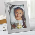 Engraved Silver First Communion Picture Frame