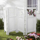 Outdoor White Privacy Screen