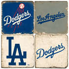 Los Angeles Dodgers Italian Marble Coasters