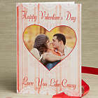 Personalized Vintage Heart Custom Photo Valentine's Day Card
