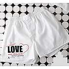 Personalized Love Me Tender Boxer Shorts