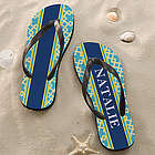 Nautical Link Personalized Flip Flops