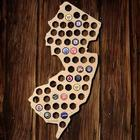 New Jersey Beer Cap Map