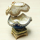 Royal Carriage Egg Carving Music Box