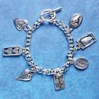 Love Silver Plated Charm Bracelet