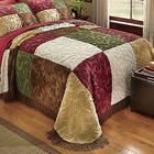 Heritage Patchwork Chenille Full Bedspread