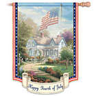 Thomas Kinkade Happy Fourth of July Decorative Flag