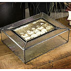 Stained Glass Picture Box with Hammered Glass