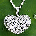 Precious Love Sterling Silver Heart Necklace