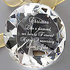 Personalized Diamond Paperweight for Her