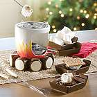 Ceramic S'mores Maker with Sticks and Plates