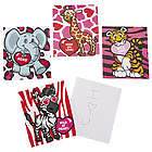 Valentine's Heart Animal Notepads