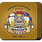 Personalized Bulldog Tavern Coaster Set