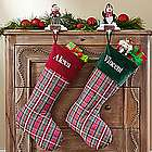 Personalized Classic Plaid Christmas Stocking