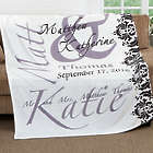 The Wedding Couple's Personalized 60x80 Fleece Throw Blanket