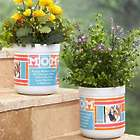 Mom's Personalized Photo Collage Outdoor Flower Pot