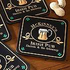 Personalized Irish Pub Beer Mug Coasters