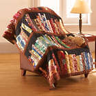 Library Quilted Throw Blanket