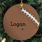 Football Personalized Ceramic Ornament