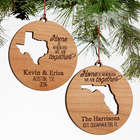 State of Love Personalized Couples Christmas Ornament