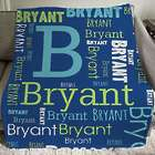 Boy's Personalized Word-Art Throw Blanket