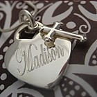 First Communion Personalized Keepsake Heart Necklace