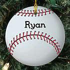 Personalized Baseball Ceramic Ornament