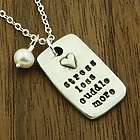 Stress Less Cuddle More Pewter Pendant Necklace