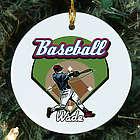 Personalized Ceramic Baseball Ornament