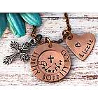 Godmother's Personalized Hand Stamped Cinderella Necklace