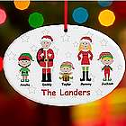 Personalized Santa and Company Family Ornament