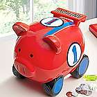 Personalized Red Racer Piggy Bank