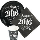 Class of 2016 Black Tableware Set