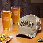 Baseball Cap Bottle Opener and Personalized Pint Glasses for Dad