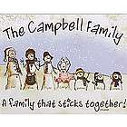 Personalized Snowmen Stick Family Wall Canvas