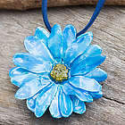 World of Blue Natural Flower Necklace