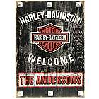 Personalized Harley Davidson Welcome Sign