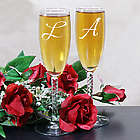 Our Initials Personalized Wedding Toasting Flutes