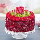 Birthday Wishes Large Purple Flower Cake