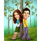 Forest of Love Caricature from Photos Print