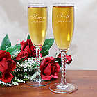 Personalized Couple's Wedding Toasting Flutes