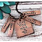 Love You Mom Hand Stamped Personalized Necklace