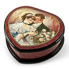 A Token of Love Heart-Shape Painted Music Box