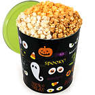 Spooky Eyes 3.5 Gallon Popcorn Gift Tin with People's Choice Mix