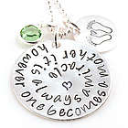 Motherhood is a Miracle Adoption Personalized Necklace