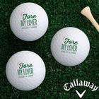 Personalized For My Sweetheart Romantic Golf Ball Set