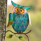 Metal Owl on Branch Wall Art