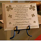 Personalized Lucky Four-Leaf Clover Wooden Plaque