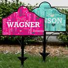 Personalized Family Word-Art Magnetic Metal Collapsible Yard Sign