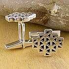 Geodesic Sterling Silver Cufflinks